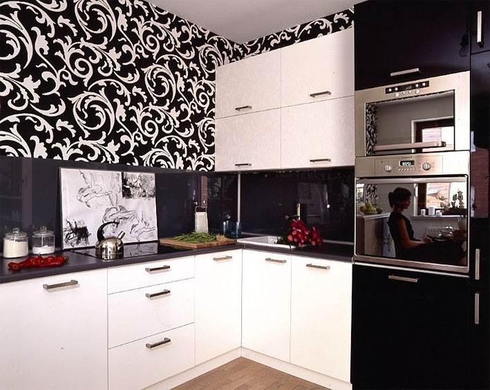 Обои для черной кухни фото