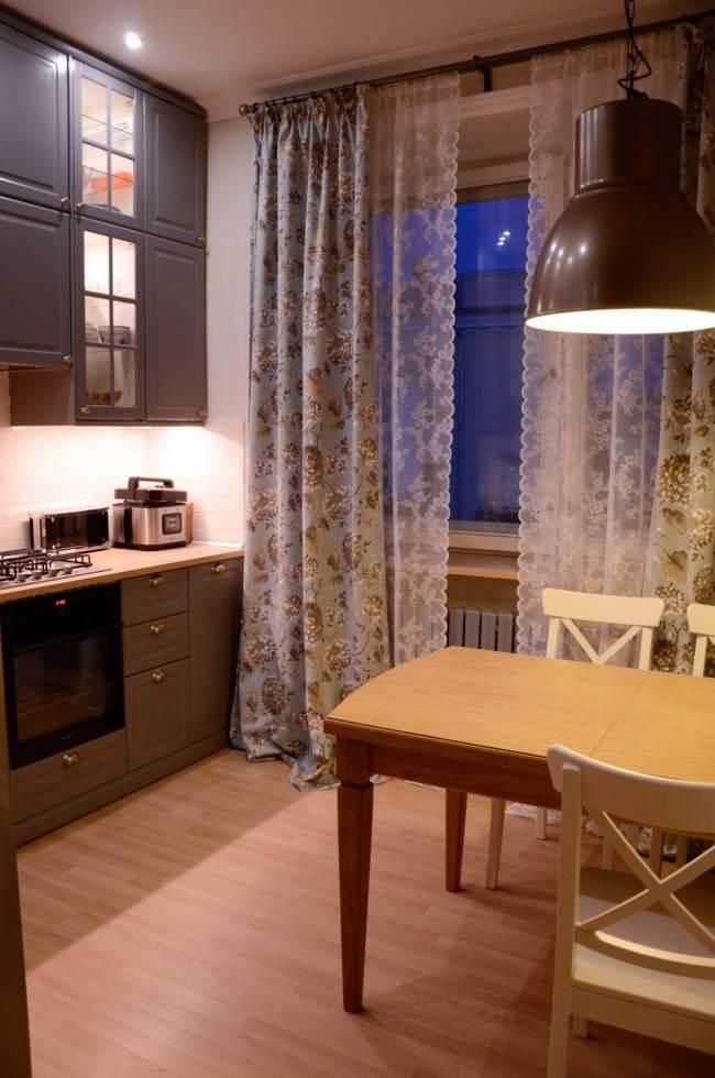 Тюль и занавески на кухне