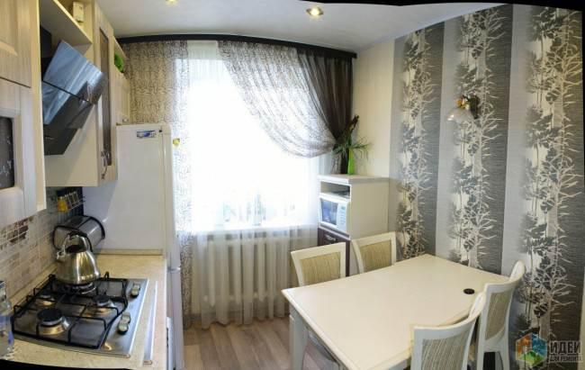 Уютная угловая кухня 7,7 кв.м. в классическом стиле