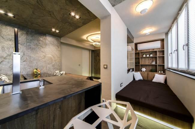 Место для отдыха в кухне-гостиной