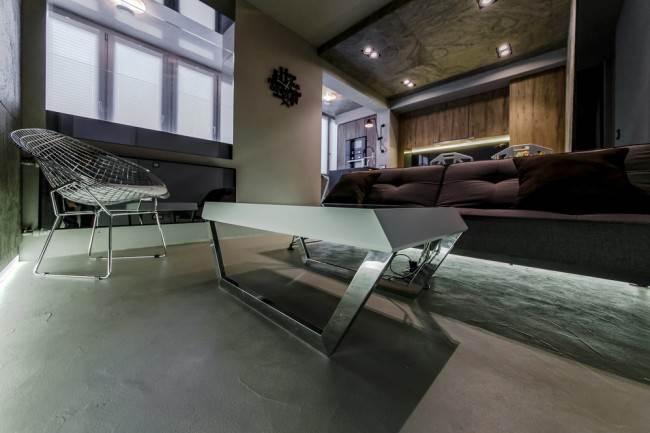 """Дизайнерское оформление кухни-гостиной 22 кв.м с системой """"умный дом"""""""