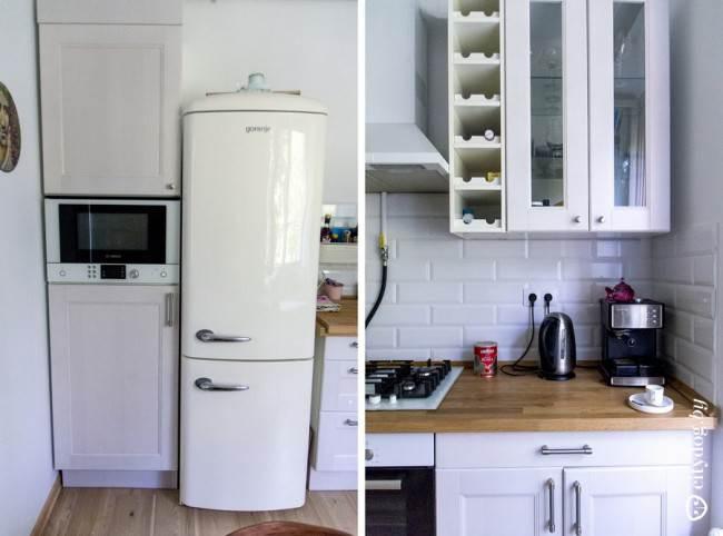 """Дизайн белой классической угловой кухни 9 кв.м в """"сталинке"""""""