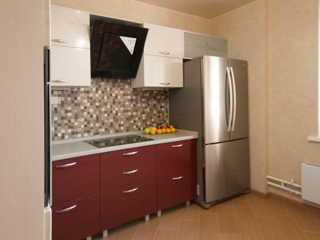 красно белая кухня из мдф фото работы Decoroom рязань