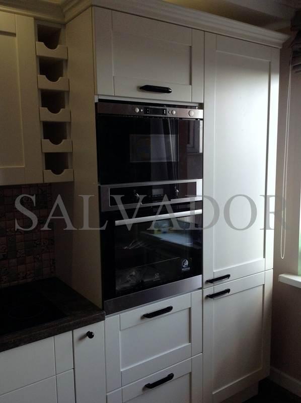 Керамический фартук на кухне фото интерьера 279
