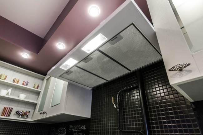 Короб из гипсокартона для подсветки кухни