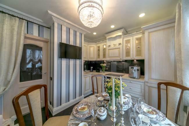 Дизайн классической кухни 12 кв.м. из Квартирного вопроса