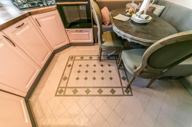Метлахская плитка на полу