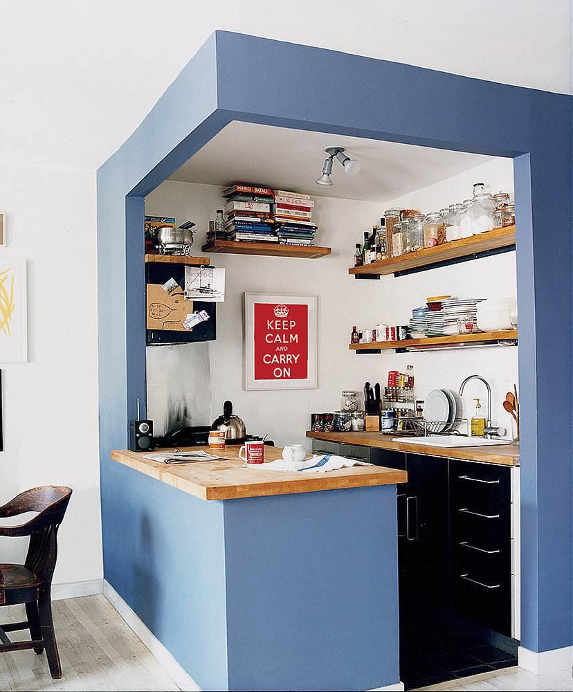 Фото интересный дизайн маленькой кухни
