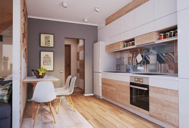 Современный дизайн маленькой кухни - 40 идей 2017 года