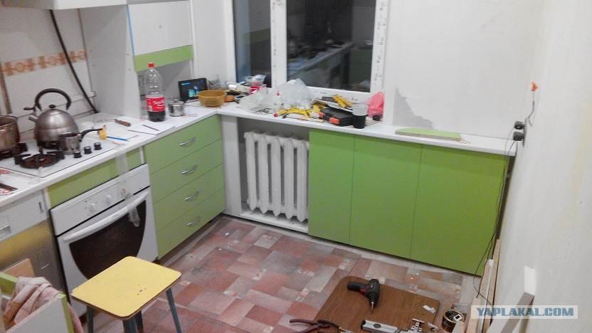 Ремонт на кухне хрущевка своими руками