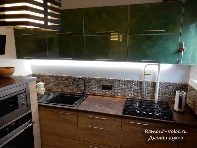 Необычная кухня 7 кв м во Владимире (7 фото)