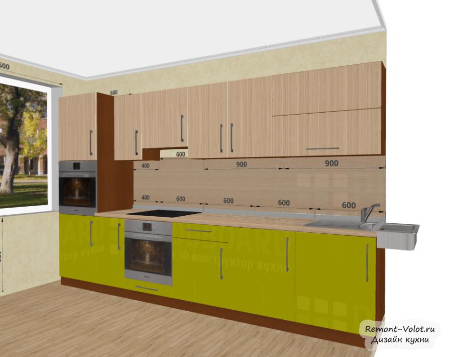 Дизайн кухни 8 кв м с холодильником