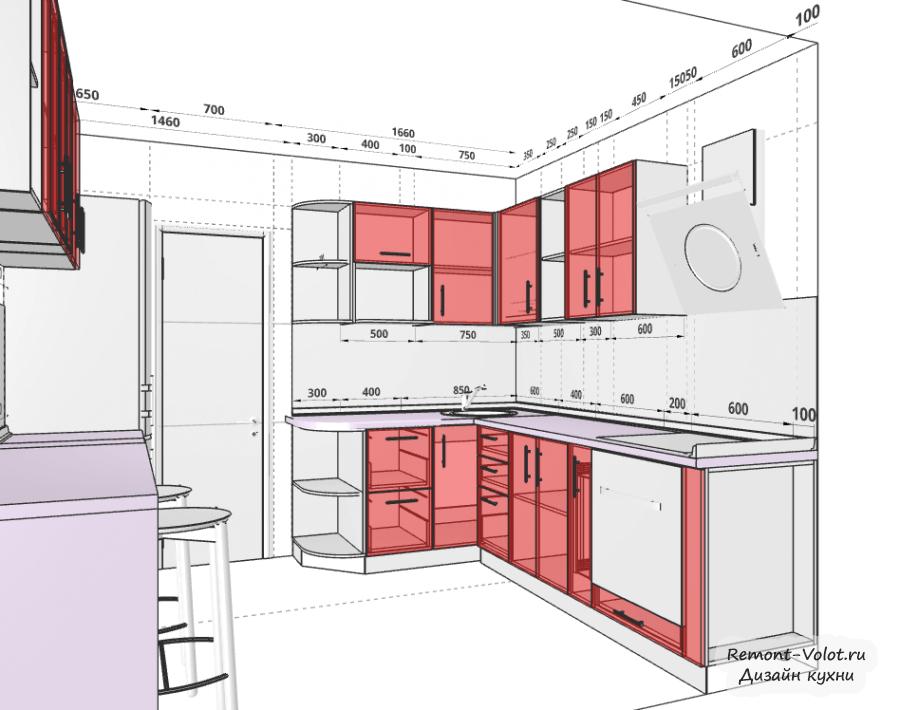 Как самому нарисовать дизайн проект кухни