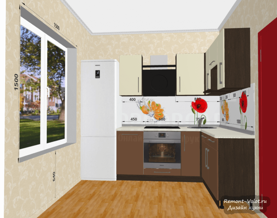 Кухни 6кв.м дизайн