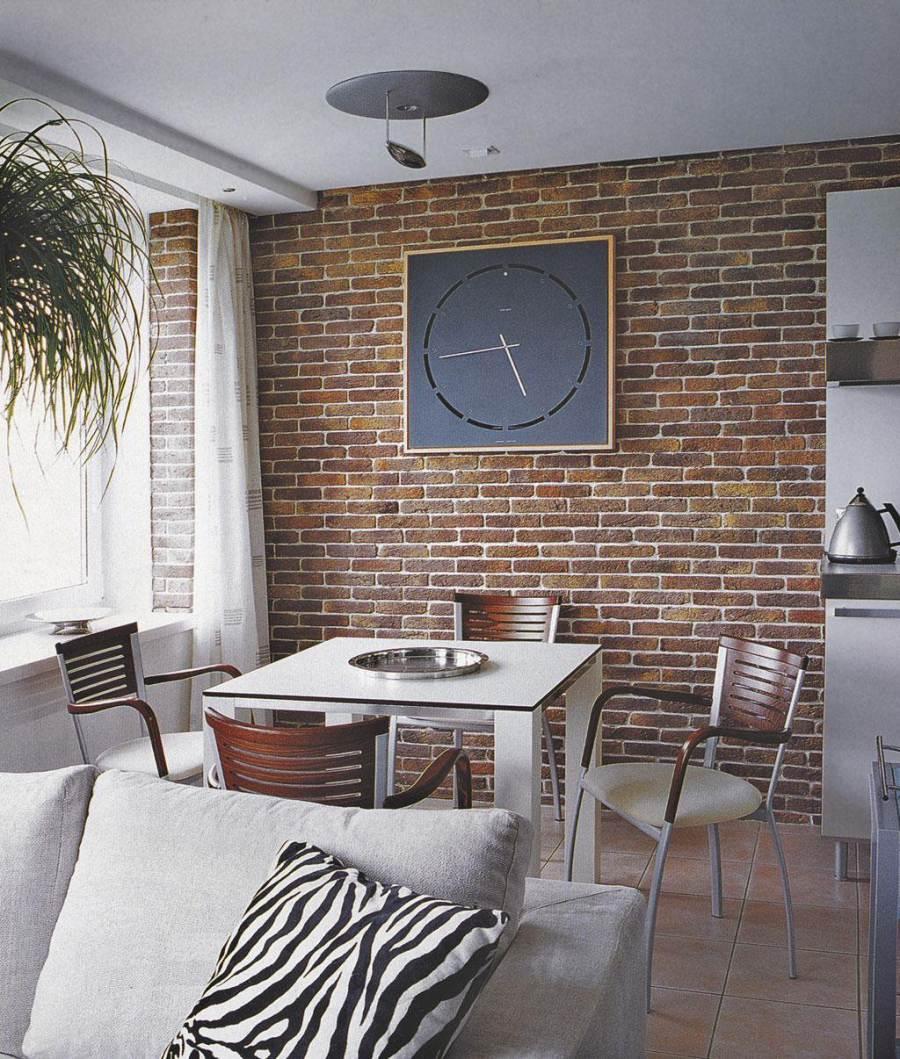 Дизайн кирпичной стены в интерьере