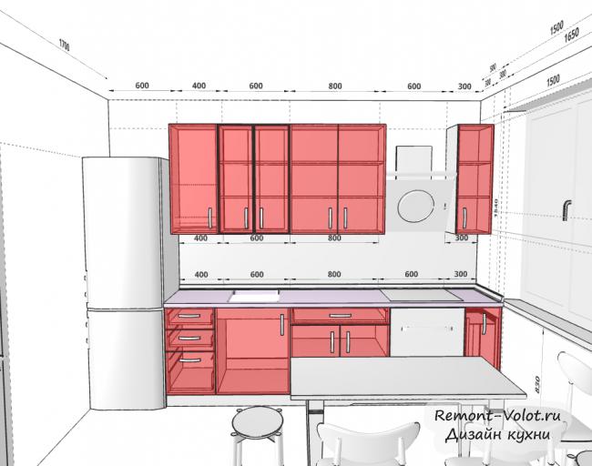 Как нарисовать дизайн кухни самостоятельно