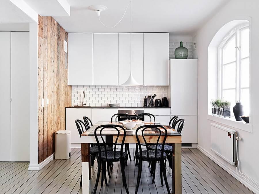 Скандинавский стиль дизайн кухни 2017-2018 современные идеи