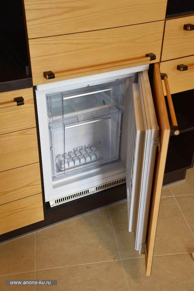 Морозильная камера за мебельными фасадами