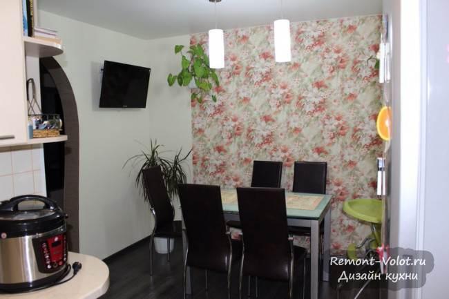 Дизайн кухни-столовой в 4-комнатной хрущевке в Верхней Салде (9 фото)