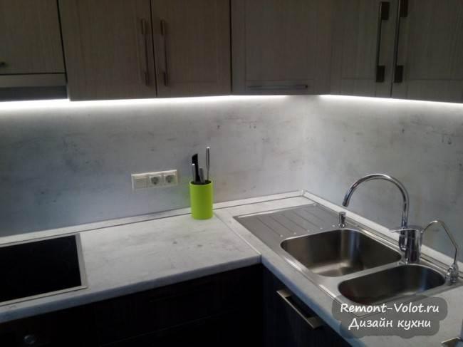 Светодиодная подсветка рабочей поверхности и фартука из ЛДСП