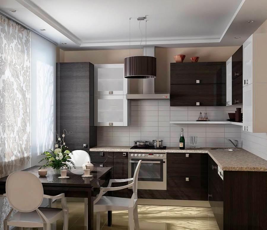 Дизайн кухни 9 кв метров в современном стиле (25 фото