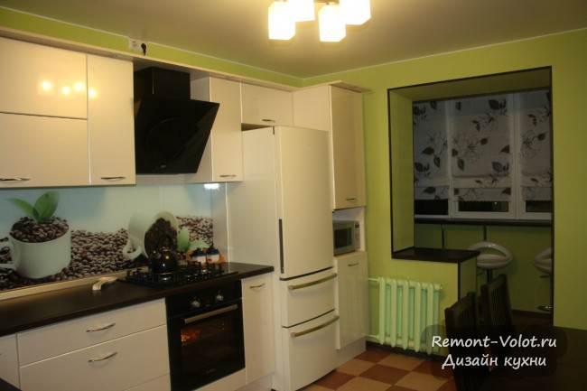 """Кухня 10 кв м компании """"Напра"""" в Пскове (3 фото + цена). Объединение с балконом"""