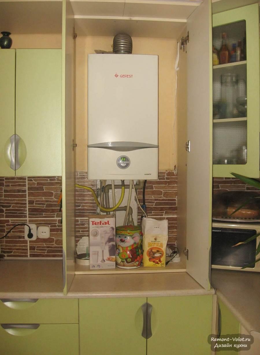 Дизайн кухни с газовой колонкой 6 кв.м. фото