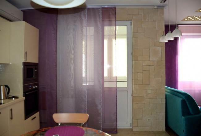 Варианты оформления кухни японскими шторами (10 фото)