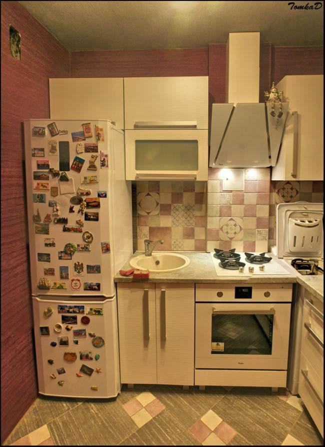 Самостоятельный ремонт светлой кухни на площади 5,5 кв. м