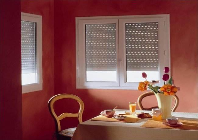 Рольставни в интерьере кухни (6 фото)