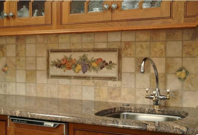 Декор на кухонном фартуке
