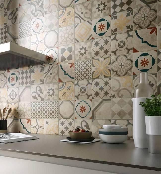 Орнамент на кухонном фартуке