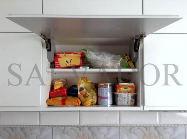 Aventos HK рекомендуют монтировать в те шкафы, которые используют не так часто, как модуль с посудосушителем