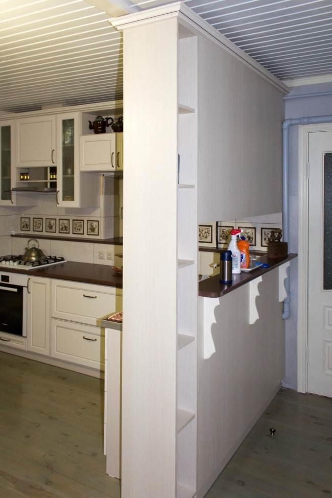 Перегородка между кухней и коридором
