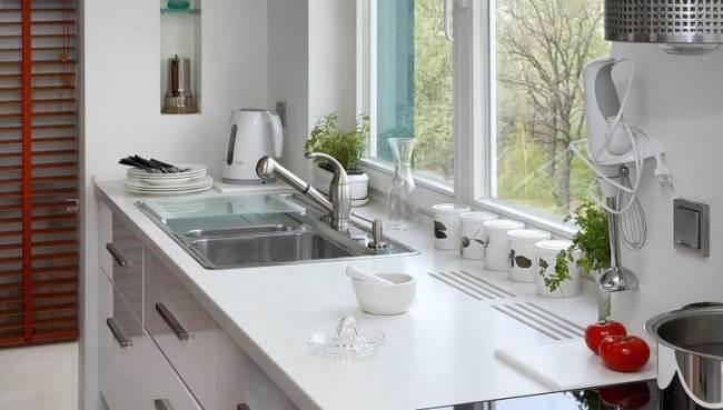 Вентиляционные решетки для радиатора в столешнице кухни