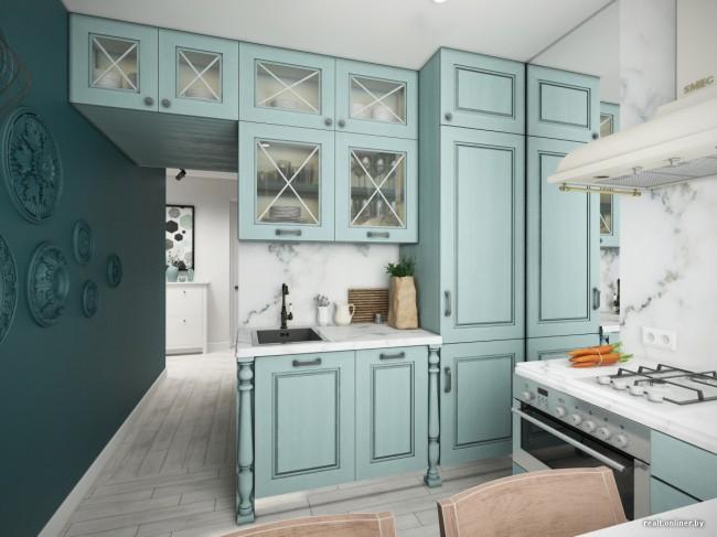 2 дизайн-проекта в стиле прованс для старой кухни в хрущевке