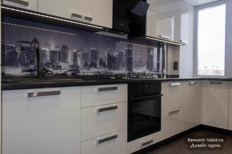 Белая кухня столешница венге фото искуственный камень для столешницы Кропоткинская