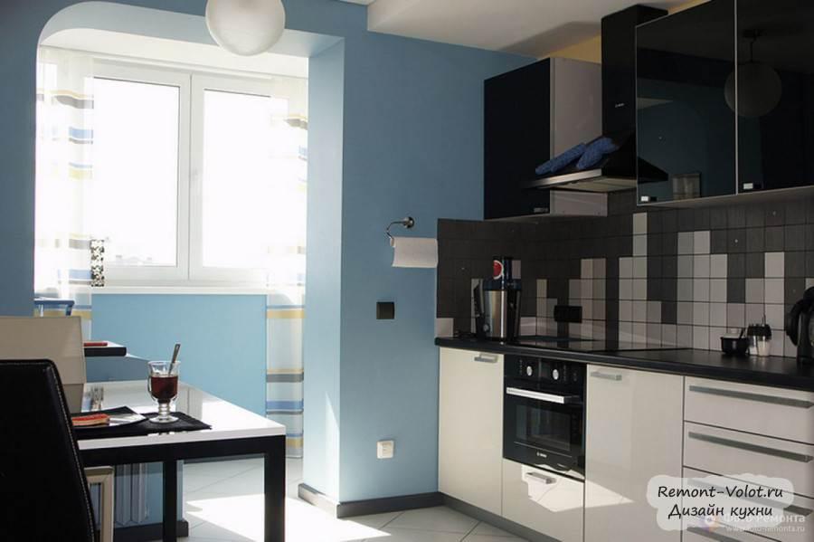 Дизайн кухни с выходом на балкон (25 фото интерьеров).