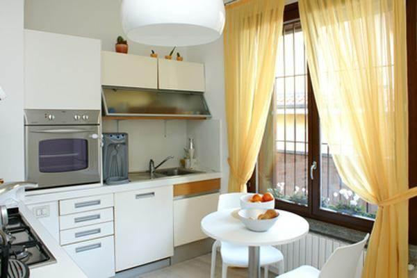 Тюль для кухонного окна