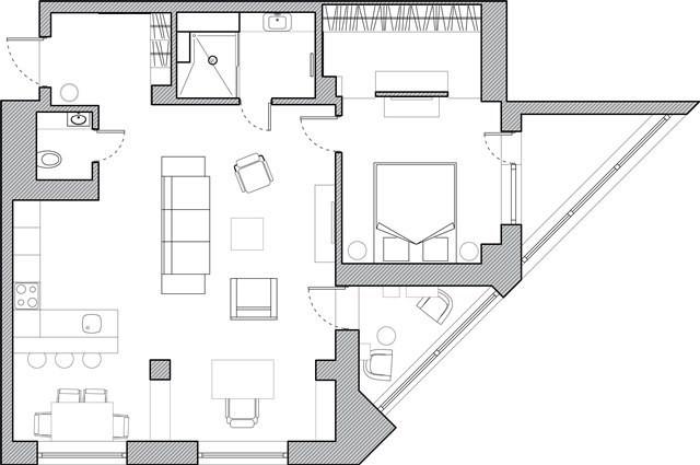 Дизайн-проект современной белой кухни