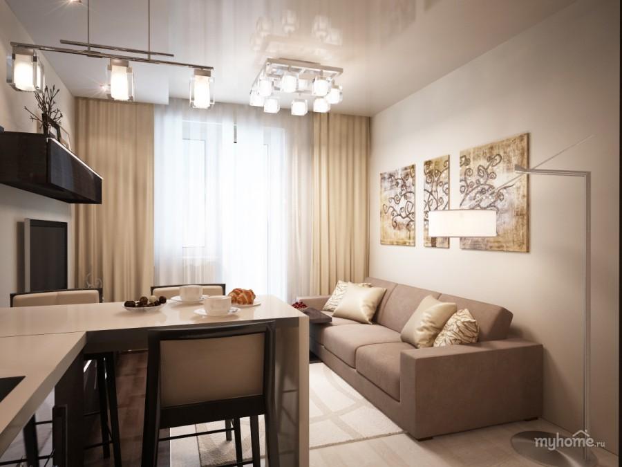 Прямоугольная кухня 18 кв.м дизайн