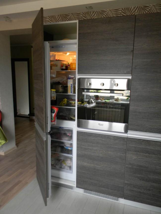 Каких размеров бывают встроенные холодильники и шкафы под них?