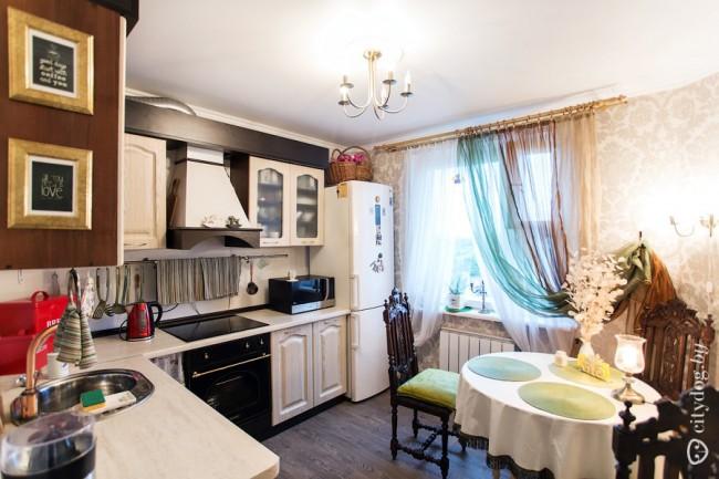 Интересный дизайн кухни 9 кв.м в стиле шебби шик