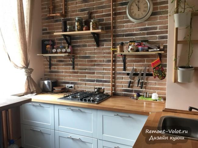 Красивая кухня с гармонично подобранными цветами