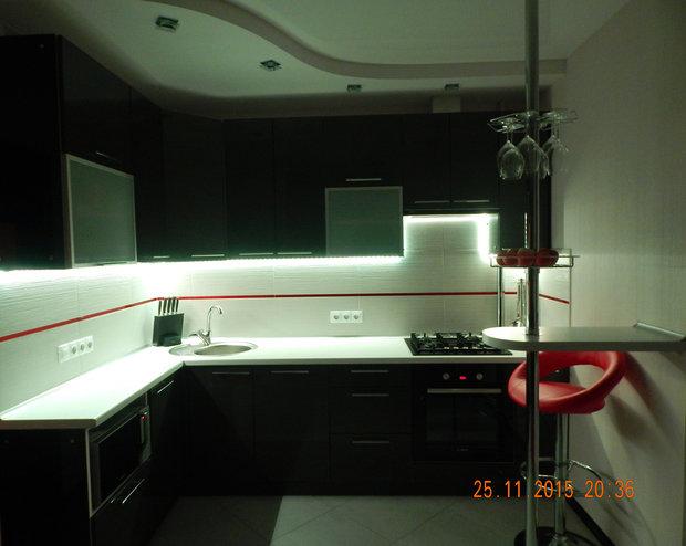 Инструкция, как сделать светодиодную подсветку под шкафами своими руками