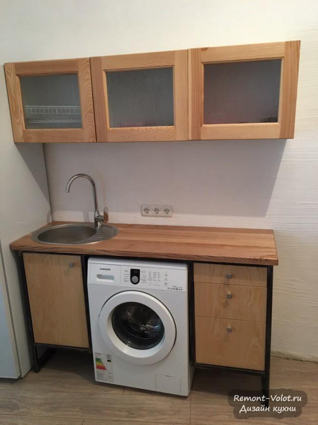Бюджетная маленькая кухонька 8 кв в арендной квартире