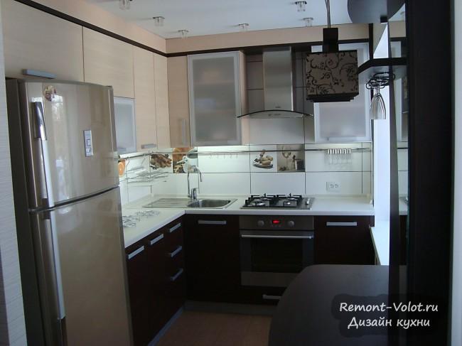 Дизайн совмещенной кухни-гостиной в переделанной хрущевке