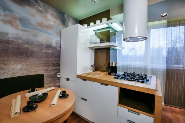 Фотообои на кухню: как безпроигрышно обыграть интерьер в капризном помещении