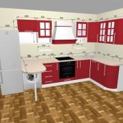 Простой 3D конструктор кухни