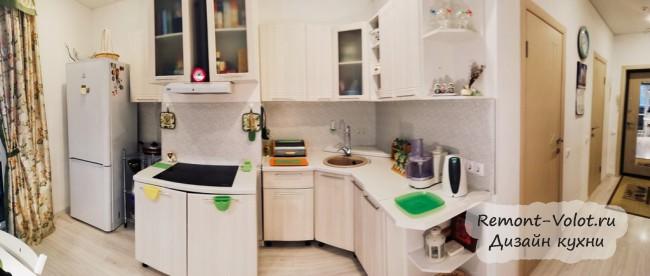 Модульная угловая кухня на 10,5 кв с вентканалом за 30 тысяч рублей